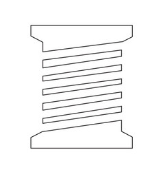 Tailor thread bobbin icon symbol design vector