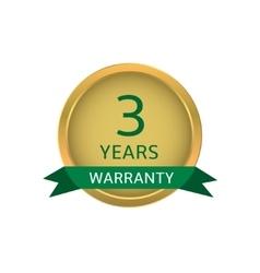 Three years warranty label vector image