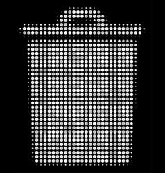 trash bin halftone icon vector image