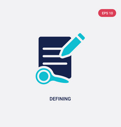 Two color defining icon from edit tools concept vector
