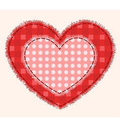 Two patchwork hearts vector image