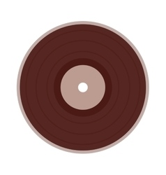 vinyl disc isolated icon design vector image