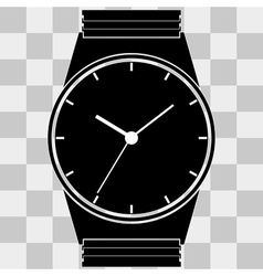 Watch clock icon web on transparent vector image