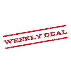 Weekly Deal Watermark Stamp vector image