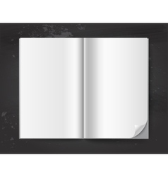 White book template vector image