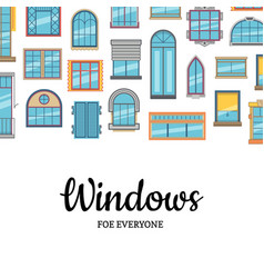 window flat icons background with place vector image