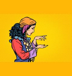 Woman fortune teller gypsy vector