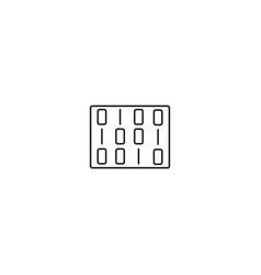 Matrix line icon vector