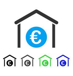 Euro storage garage flat icon vector
