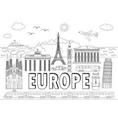 Europe travel set vector image vector image