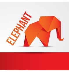 Paper origami Elephant Can be used for corporate vector image vector image