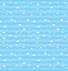 pattern fish swimming in blue sea fish pattern vector image vector image