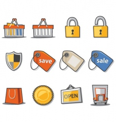 shopping and retail vector image vector image