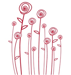 abstarct red roses vector image vector image