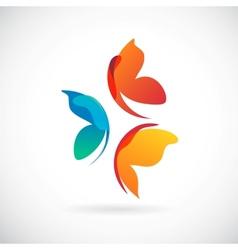 butterflies background design vector image vector image