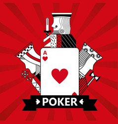 heart ace jack king and queen cards playing poker vector image