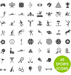 Sports icons basics vector image