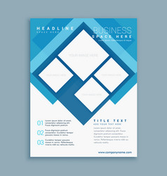 stylish blue brochure flyer design template with vector image