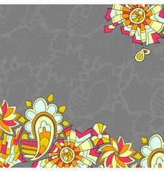 Vintage like floral card vector image