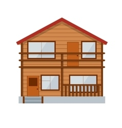 Wooden Country House vector image