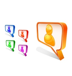 chat icons vector image