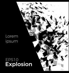 duotone explosion concept vector image