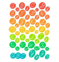 Hand drawn bright alphabet vector image vector image