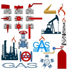 Set the gas production industry vector image vector image