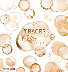 Traces of coffee cup vector image