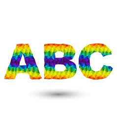 triangular letters abc vector image