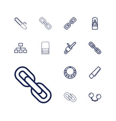 13 chain icons vector