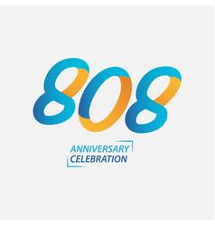 808 year anniversary celebration template design vector