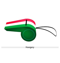 A Red White and Green Whistle of Hungary vector image