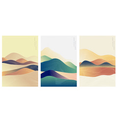 abstract template with geometric pattern mountain vector image