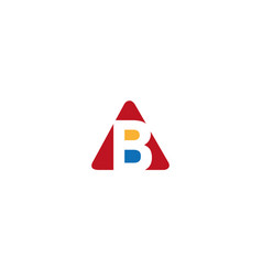 alphabet b inside a triangle in multi colors for vector image
