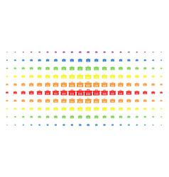 analysis spectrum halftone array vector image