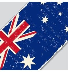 Australian grunge flag vector