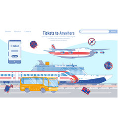banner tickets to anywhere public transport vector image