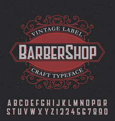 barber shop vintage label poster vector image