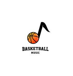 Basketball music logo design vector