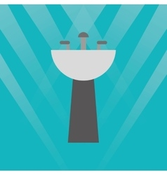 Bathroom sinks design vector image