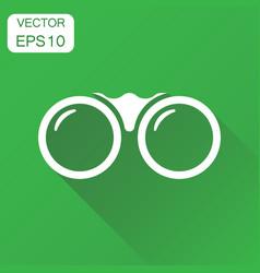 binocular icon business concept binoculars vector image