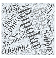 Bipolar disorders Word Cloud Concept vector