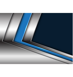 blue silver arrow with dark blank space vector image