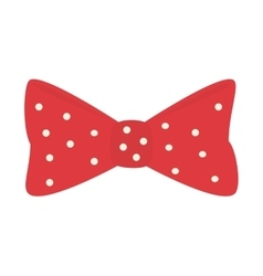 Bow tie hipster retro vintage isolated vector