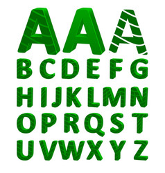 cartoon font full alphabet vector image
