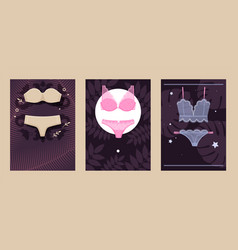 catalog underwear store variety womans sets vector image