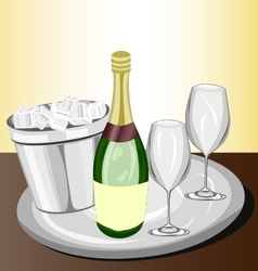 Celebration with champagne vector