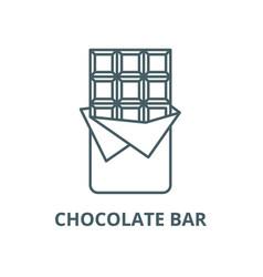 chocolate bar line icon chocolate bar vector image
