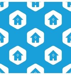 Christian house hexagon pattern vector